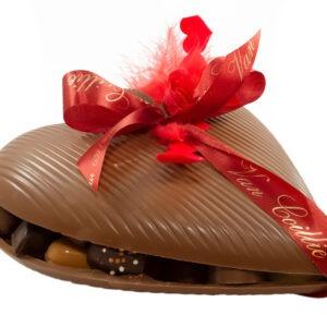 Groot chocolade hart